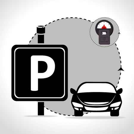 car road: Parking zone graphic design, vector illustration eps10 Illustration
