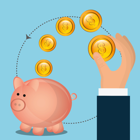 counting money: Money online payment graphic design, vector illustration eps10