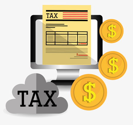 tax forms: Goverment taxes payment graphic design, vector illustration  Illustration