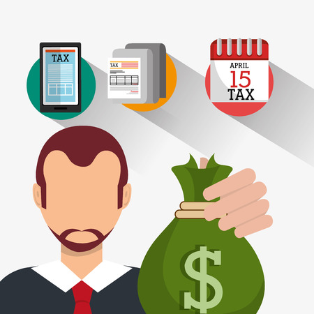 goverment: Goverment taxes payment graphic design, vector illustration  Illustration