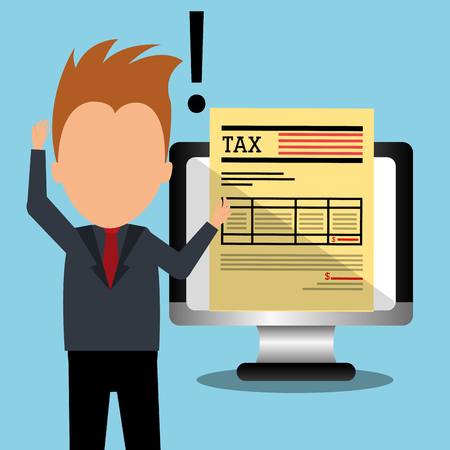goverment: Goverment taxes payment graphic design, vector illustration