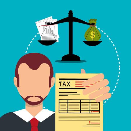 Goverment belastingen betaling grafisch ontwerp, vector illustratie Vector Illustratie