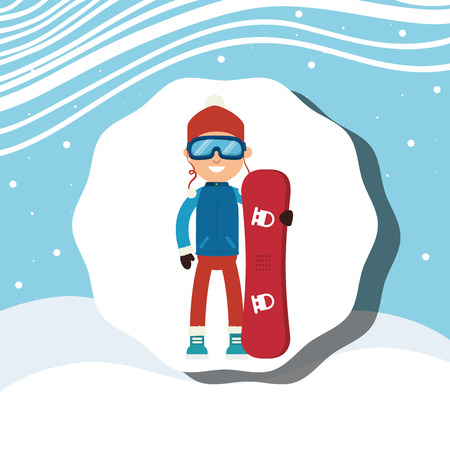 sport wear: Winter sport wear and accesories graphic design, vector illustration