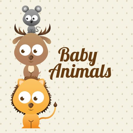 baby animals design, vector illustration  graphic Illustration