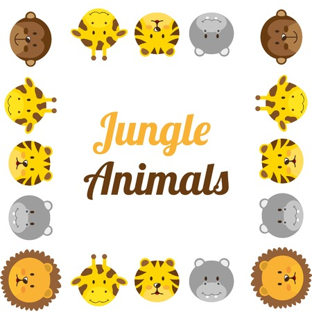 animales del zoo: animales del zoológico de diseño, ejemplo gráfico del vector