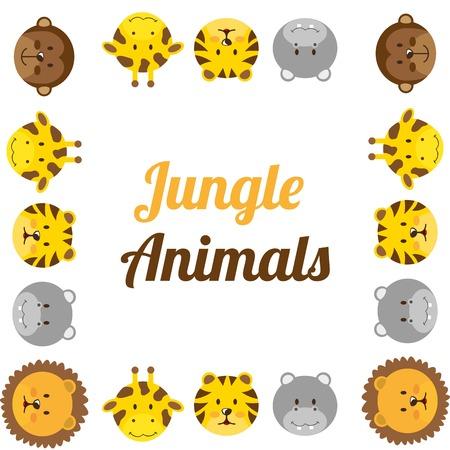 animaux du zoo: conception des animaux de zoo, illustration graphique