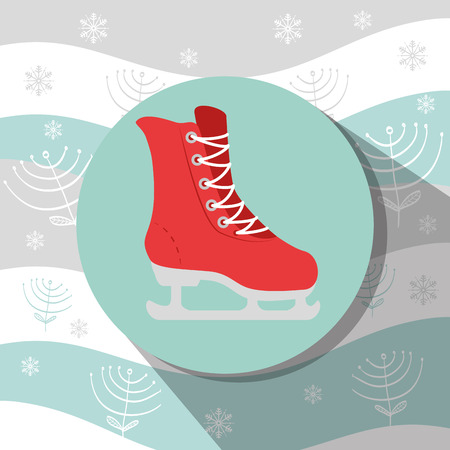 accesories: Winter sport wear and accesories graphic design, vector illustration