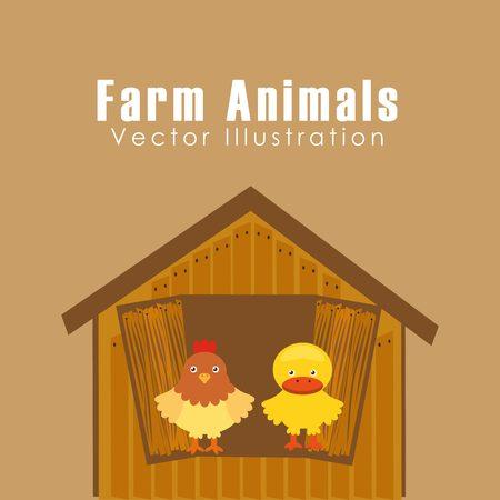 litle: farm animals design, vector illustration  graphic Illustration