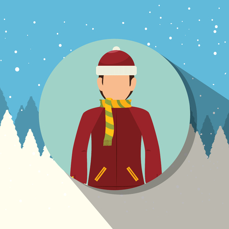 wear: Winter sport wear and accesories graphic design, vector illustration