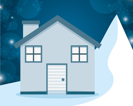 homes: winter homes design, vector illustration eps10 graphic Illustration