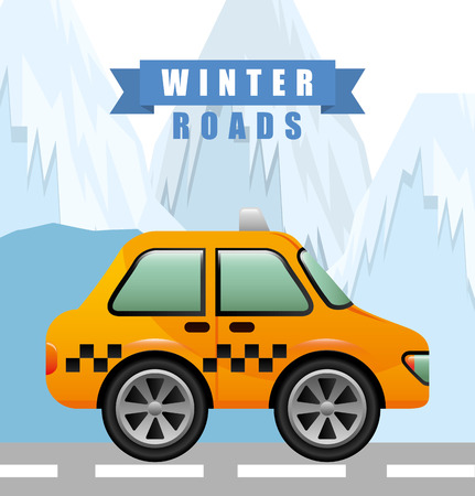 snow tires: winter roads design, vector illustration eps10 graphic
