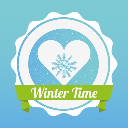 hello heart: welcome winter design, vector illustration eps10 graphic