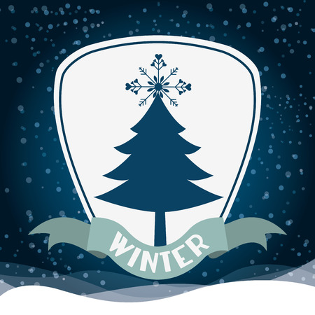 christmas night: welcome winter design, vector illustration eps10 graphic