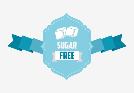 sugar cube: sugar free design, vector illustration eps10 graphic Illustration