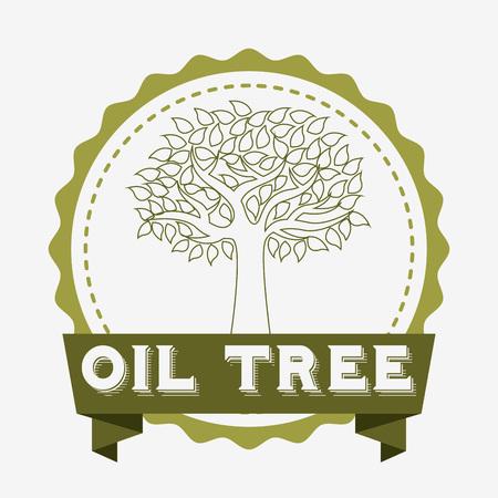 olivo arbol: Diseño del árbol de oliva, ejemplo gráfico del vector eps10