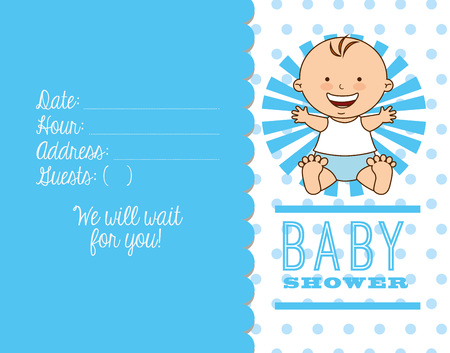 baby boy announcement: baby shower design, vector illustration eps10 graphic Illustration
