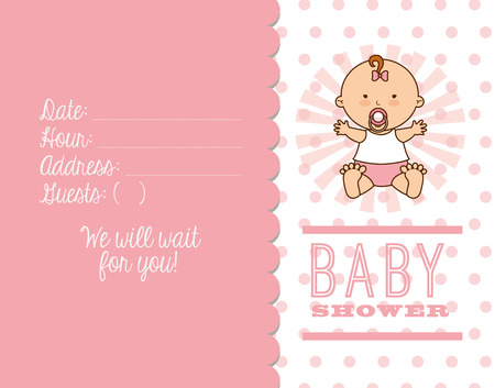 date of birth: baby shower design, vector illustration eps10 graphic Illustration