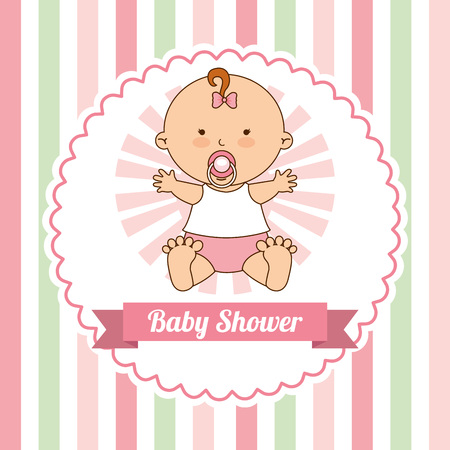invitation background: baby shower design, vector illustration eps10 graphic Illustration