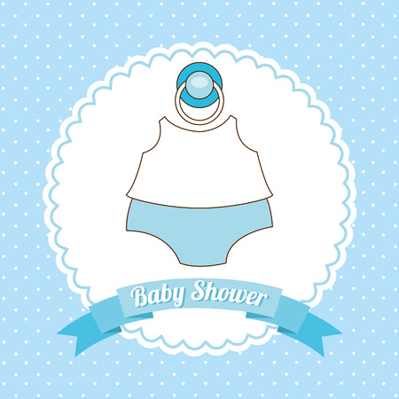 baby background: baby shower design, vector illustration eps10 graphic Illustration