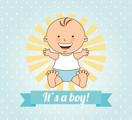 bébé douche design, illustration graphique eps10