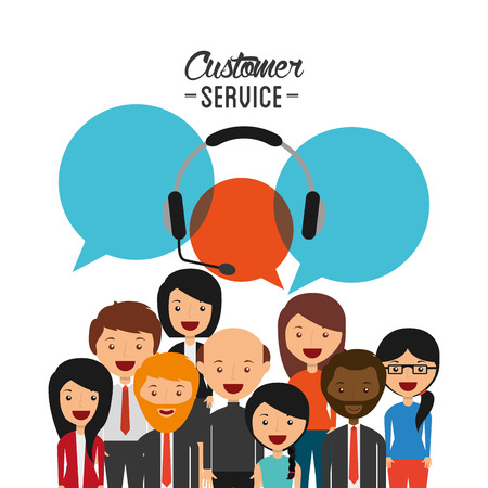 customers: customer service design, vector illustration eps10 graphic Illustration