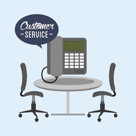 retail place: customer service design, vector illustration eps10 graphic Illustration