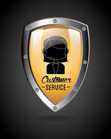commitments: customer service design, vector illustration eps10 graphic Illustration