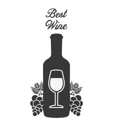 bouteille de vin: meilleure conception de vin, vecteur illustration graphique eps10