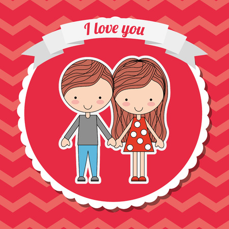 you figure: love card design, vector illustration eps10 graphic Illustration