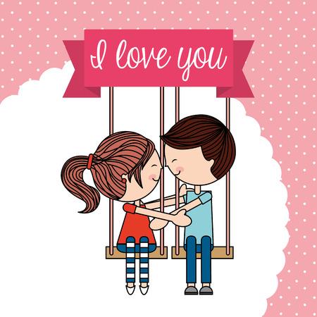 you figure: love card design, vector illustration eps10 graphic Illustration