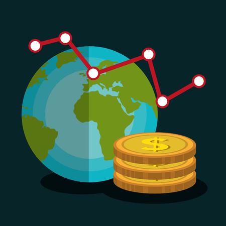 financial market: Financial market graphic design, vector illustration  Illustration