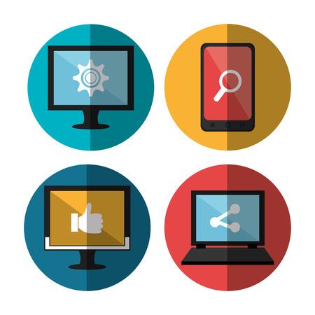 socializing: Social media and digital marketing graphic design, vector illustration Illustration