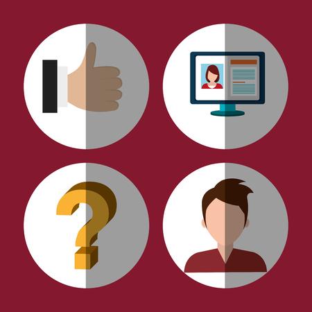 socializing: Social media and digital marketing graphic design, vector illustration Vectores