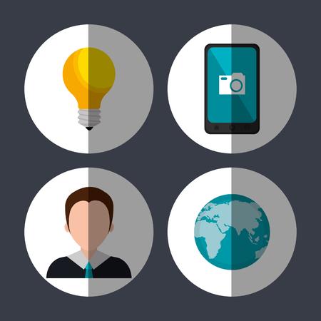 socialising: Los medios sociales y marketing digital diseño gráfico, ilustración vectorial