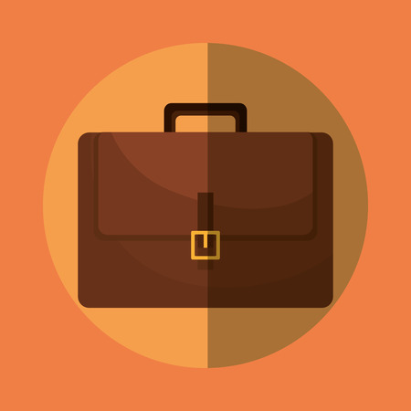 business briefcase: Business briefcase icon graphic design, vector illustration