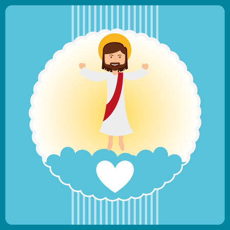 i love jesus design, vector illustration eps10 graphic