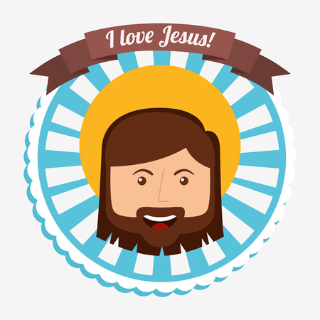 i love jesus design, vector illustration  Illustration