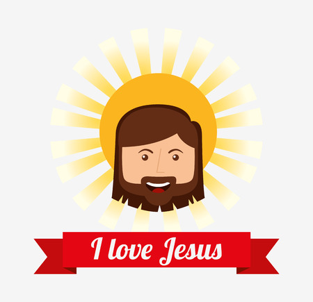i love jesus design, vector illustration