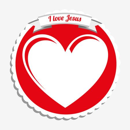 peace stamp: i love jesus design, vector illustration  Illustration
