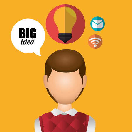 invent clever: Big ideas graphic design with icon