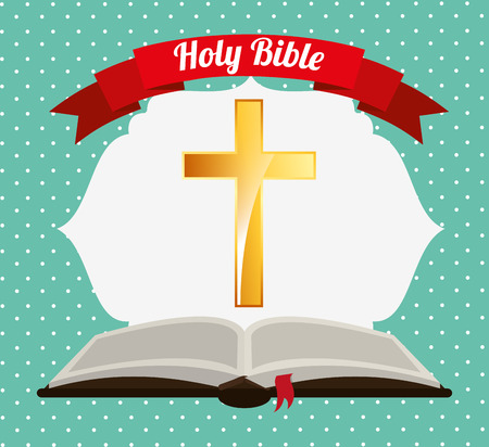 catholicism: holy bible design, vector illustration  Illustration