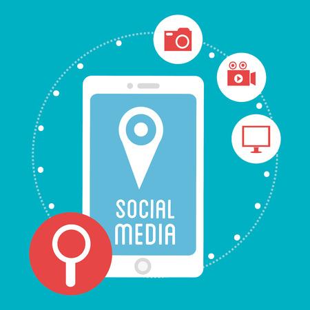 socialising: Social media and technology graphic design, vector illustration Vectores