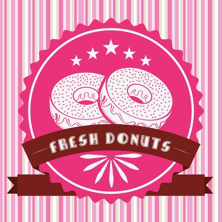 sweet donuts design, vector illustration   矢量图像