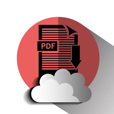 Interner download round icon design, vector illustration graphic