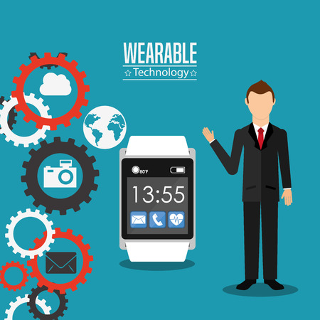 wearable: wearable technology design, vector illustration