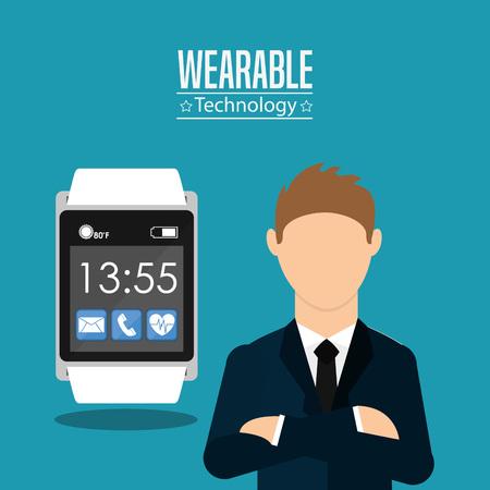 wearable: wearable technology design, vector illustration   Illustration