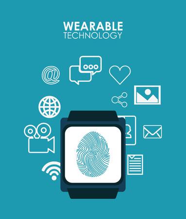 wearable technology design, vector illustration   Illustration