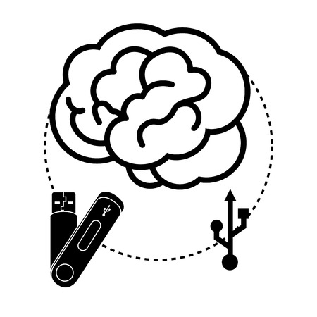 portable: USB portable memory or cable graphic design, vector illustration