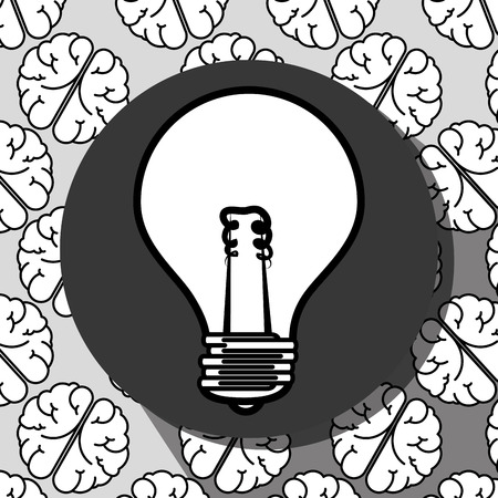 invent clever: Creative and intelligent mind graphic design, vector illustration