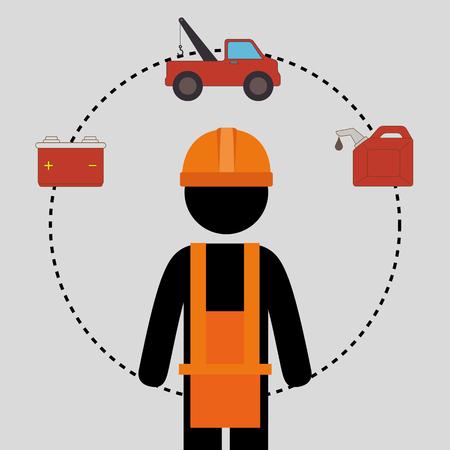 security equipment: Industrial security equipment graphic design, vector illustration